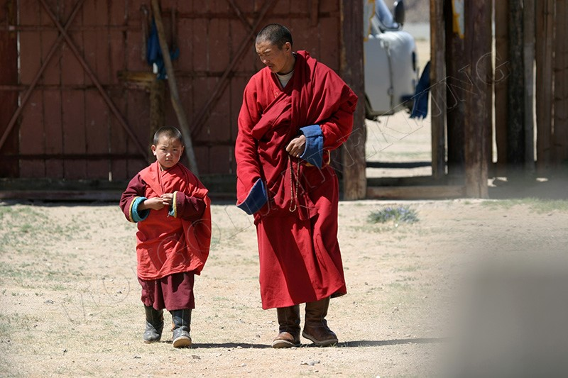Buddhist Monks - Gobi & Beyond jeep tour