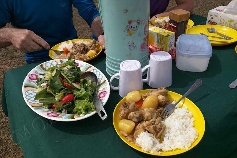 Refuelling before more great biking - Gobi Desert cycle tour
