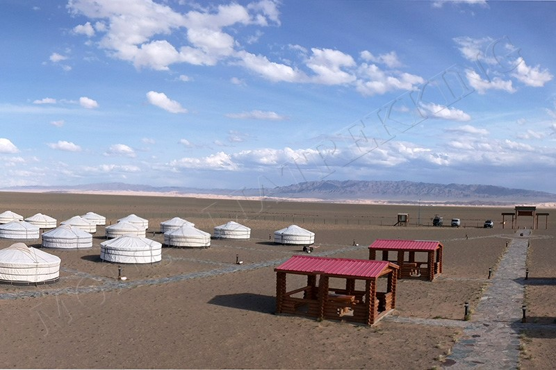 Ger camp means Luxury - Gobi Desert cycle tour