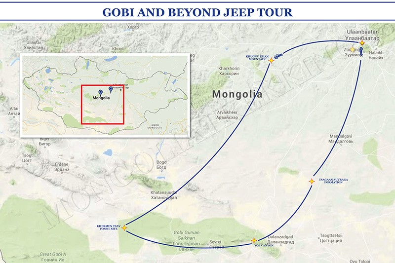 GOBI AND BEYOND JEEP TOUR