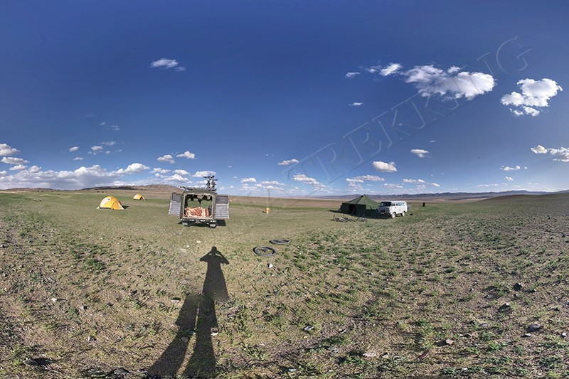 Tent camp can be luxurious too - Gobi Desert cycle tour